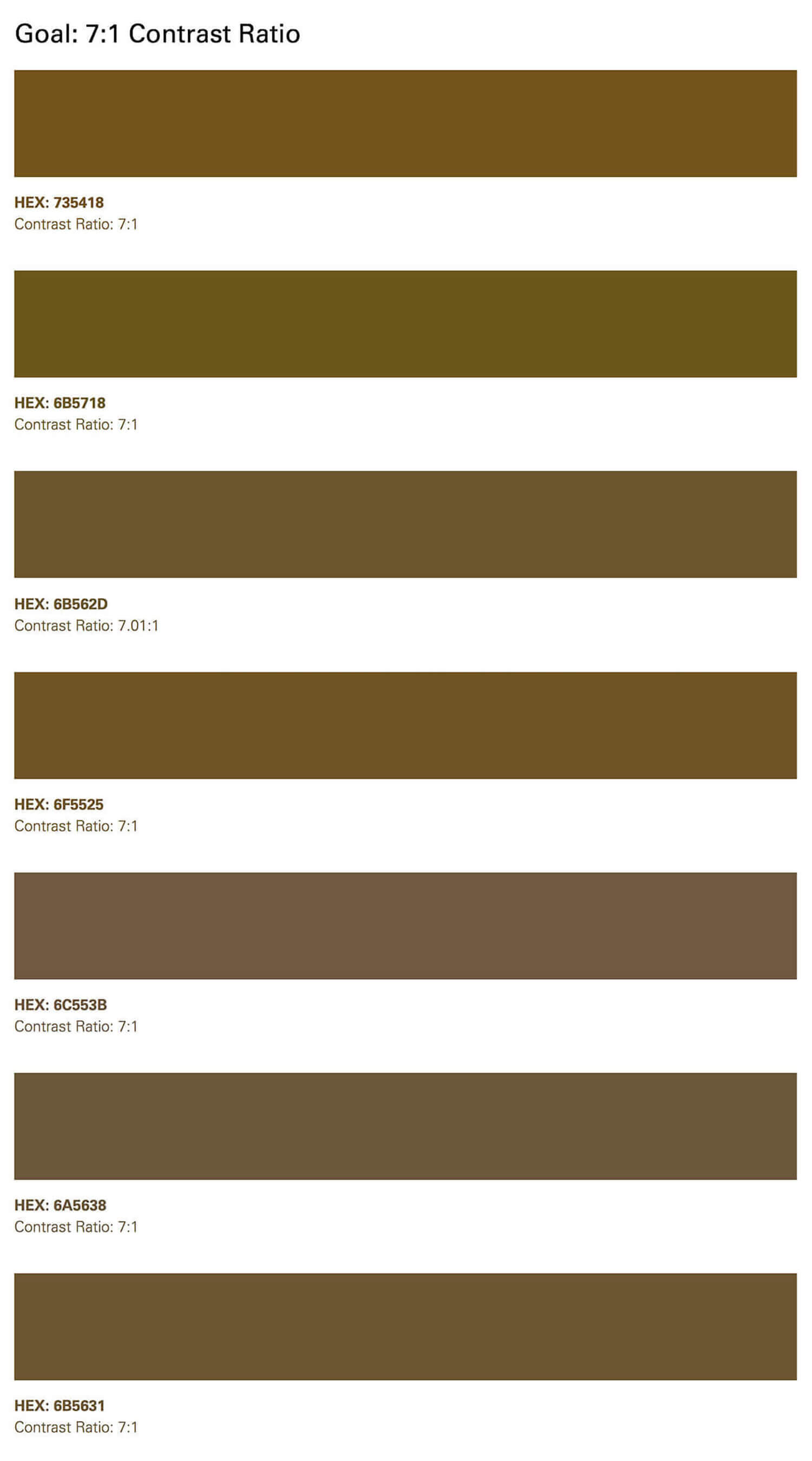 More gold color test swatches