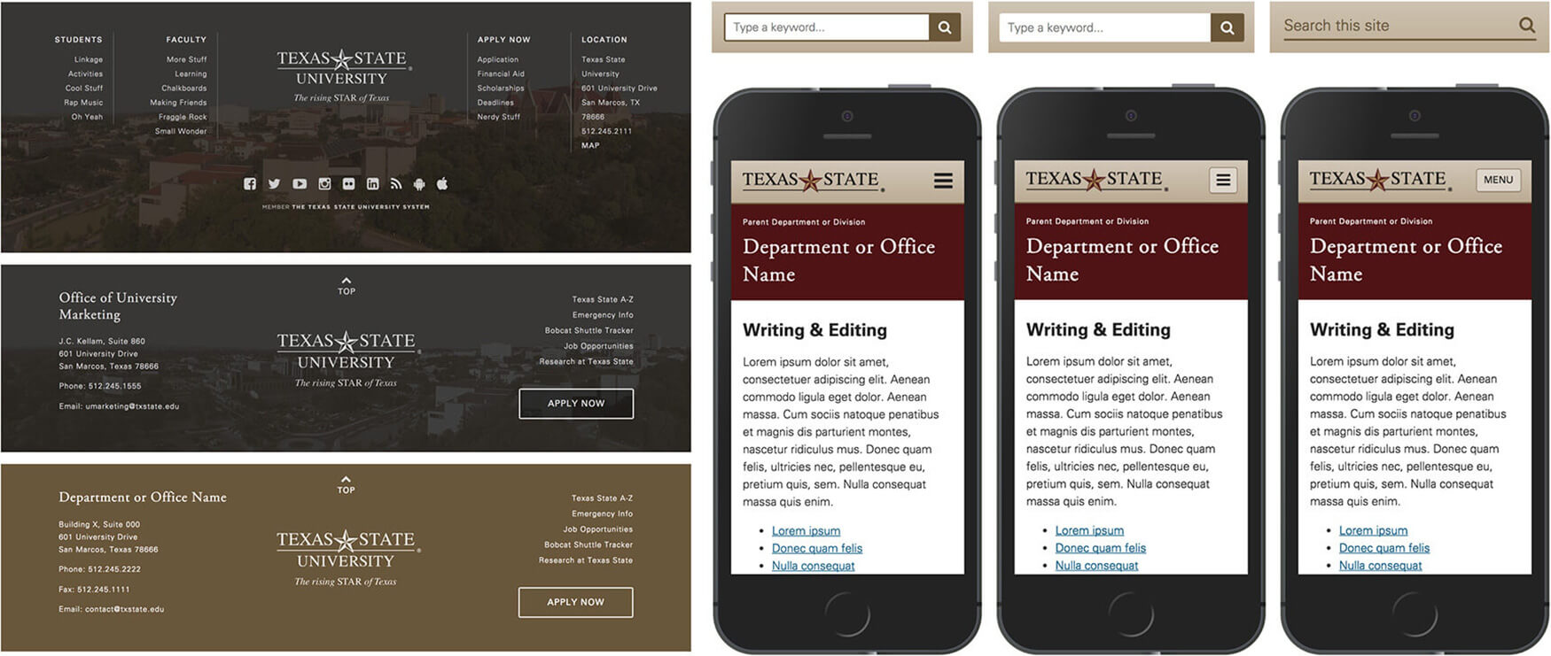 Texas State Gato CMS | Recent work | Michael Edelstone